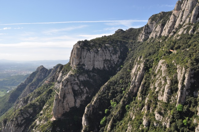 The amazing views from Montserrat