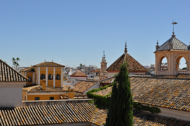 Overlooking Seville from our hotel rooftop - Fernando III