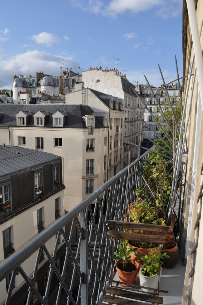 The amazing view from our Montmartre Hideaway