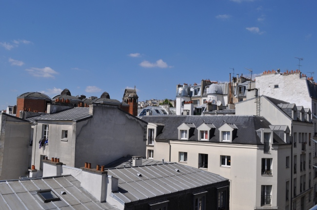 Paris rooftops - the view from the Montmartre Apartment - Haven In Paris